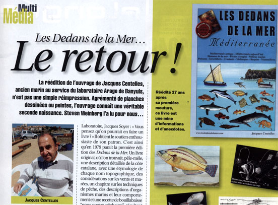 extrait de l'article dans le plongeur international